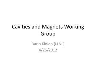Cavities and Magnets Working Group