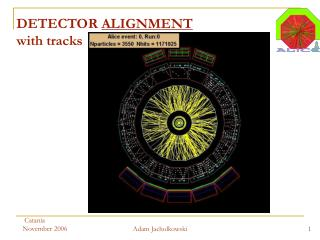 DETECTOR  ALIGNMENT with tracks