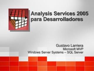 Analysis Services 2005 para Desarrolladores