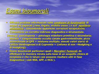 Esami bioumorali