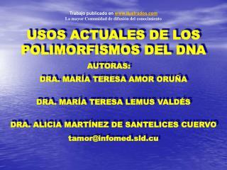 DRA. MARÍA TERESA AMOR ORUÑA