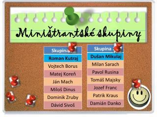 Miništrantské skupiny