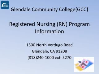 Glendale Community College(GCC )