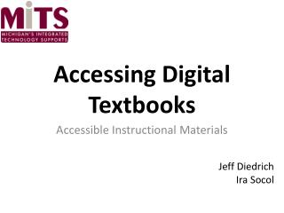 Accessing Digital Textbooks