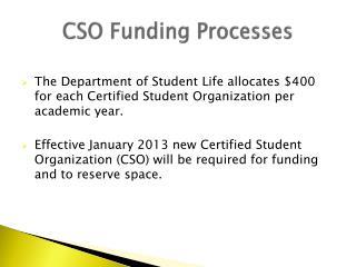 CSO Funding Processes