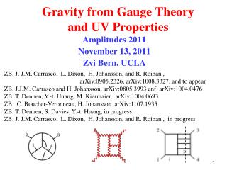 Gravity from Gauge Theory and UV Properties