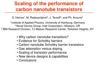 Scaling of the performance of carbon nanotube transistors