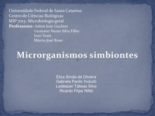 Microrganismos simbiontes