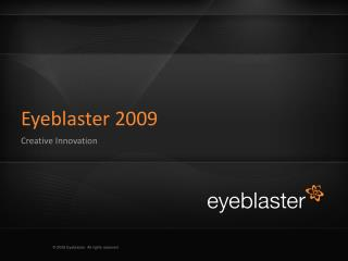 Eyeblaster 2009 Creative Innovation