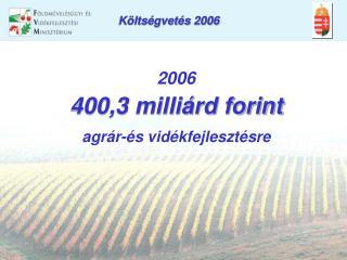 Költségvetés 2006