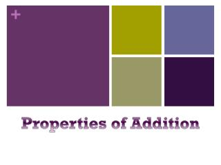 Properties o f Addition