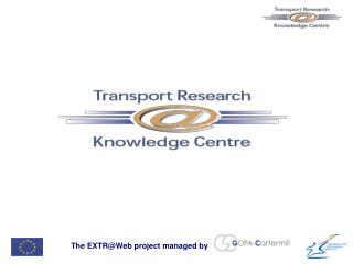 The EXTR@Web project managed by