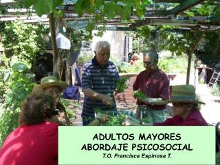 ADULTOS MAYORES ABORDAJE PSICOSOCIAL T.O. Francisca Espinosa T.