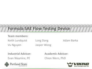Formula SAE Flow Testing Device