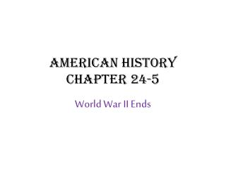 American History Chapter 24-5