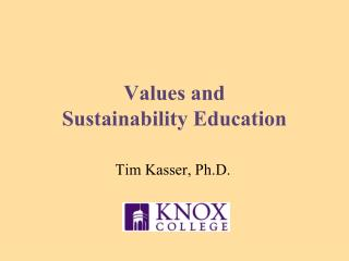 Values and  Sustainability Education