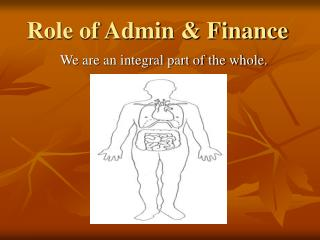 Role of Admin & Finance