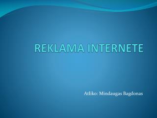 REKLAMA INTERNETE