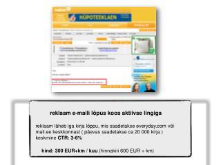 reklaam e-maili lõpus koos aktiivse lingiga