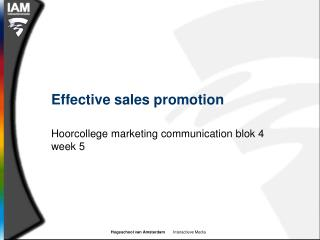 Effective sales promotion