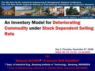 An Inventory Model for  Deteriorating Commodity  under  Stock Dependent Selling Rate