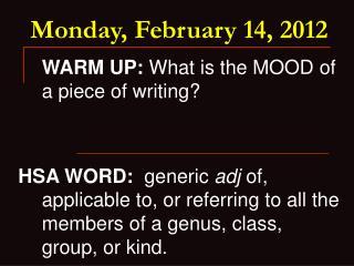 Monday, February 14, 2012