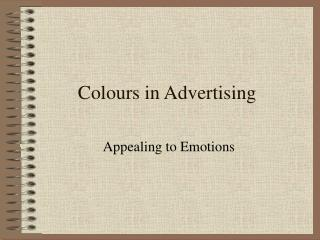 Colours in Advertising