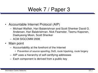 Week 7 / Paper 3