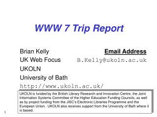 WWW 7 Trip Report