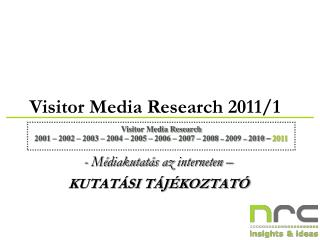 Visitor  Media  Research 201 1 / 1