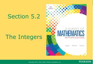 Section 5.2 The Integers