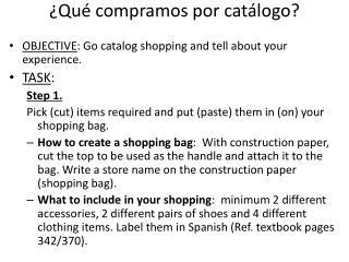 ¿Qué compramos por catálogo?