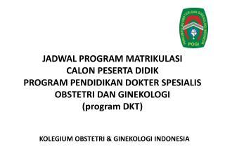 KOLEGIUM OBSTETRI & GINEKOLOGI INDONESIA