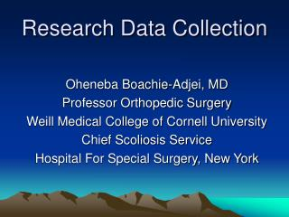 Research Data Collection