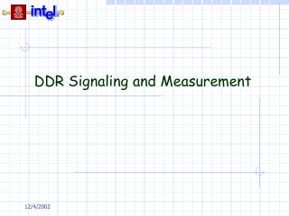 DDR Signaling and Measurement