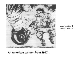 An American cartoon from 1947.