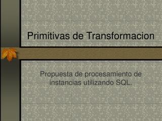 Primitivas de Transformacion