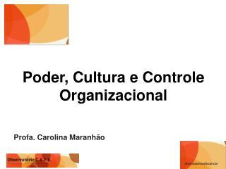 Poder, Cultura e Controle Organizacional
