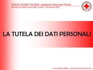 CROCE ROSSA ITALIANA_Ispettorato Nazionale Pionieri