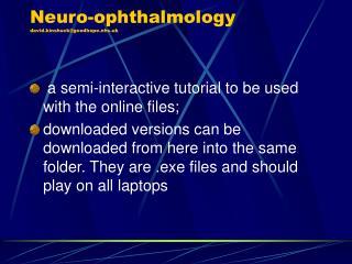 Neuro-ophthalmology  david.kinshuck@goodhope.nhs.uk