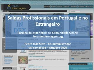 Saídas Profissionais em Portugal e no Estrangeiro