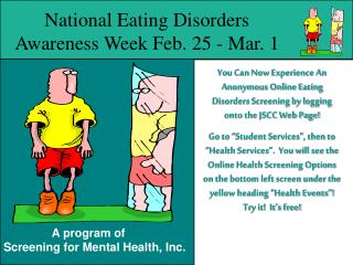 National Eating Disorders Awareness Week Feb. 25 - Mar. 1