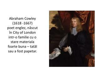 Unde a studiat Cowley ?
