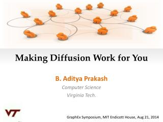 Making Diffusion Work for You