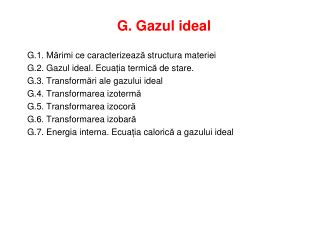 G. Gazul ideal