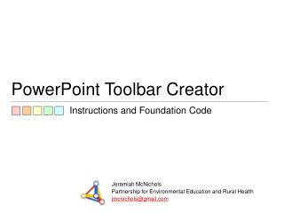 PowerPoint Toolbar Creator