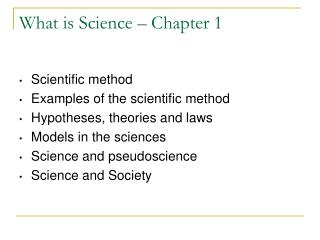 What is Science – Chapter 1