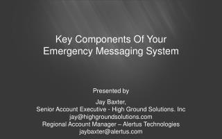 Key Components Of Your Emergency Messaging System