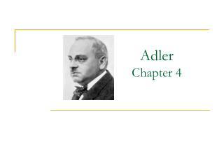 Adler Chapter 4