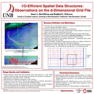 I/O-Efficient Spatial Data Structures: Observations on the d-Dimensional Grid File